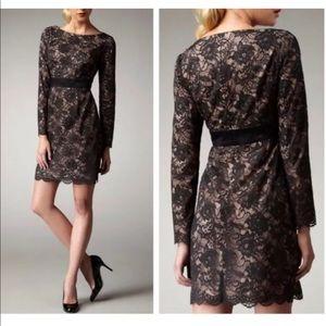 Trina Turk Dentelle Floral lace sheath dress. SZ 0